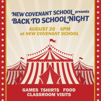 Back To School Night Instructions New Covenant School